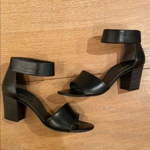 Paul Green Black Leather Heels
